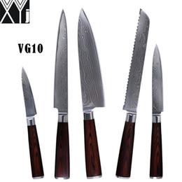 XYJ VG10 juego de cuchillos para damasco de 8 pulgadas para cortar pan de corte 5
