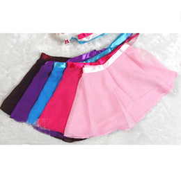 Wholesale Spring Color Scarves - Baby Girls Chiffon Ballet Skirt Dance Wrap Scarf Skirt