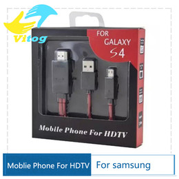 Wholesale Mhl Cables - Micro USB MHL Cable to HDMI Cable HDTV Adapter mhl hdmi for Samsung Galaxy S4