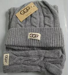 Wholesale Hats Gloves Sets - High Quality Men And Women Designer Scarf Hat Glove Sets Warm European High-end Luxury Brand Hats Scarves Gloves Sets Fashion Accessories