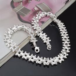 Wholesale Cubic Zirconia Watches - Luxury Watch Chain Necklace Bracelet Jewelry Sets Beautiful Women Necklace Chain Men Bangle Bracelet 925 Sterling Silver Jewelry Sets