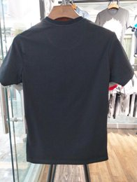 Wholesale Men Black T Shirt L - 16505 Runway Fashion Letter Print Men's Casual Cotton short sleeve T Shirts Slim with tags M-3XL