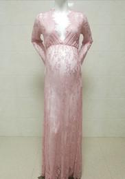 Accesorios de fotografía de maternidad Maxi vestido de maternidad de encaje Vestido de maternidad Disparo de lujo Foto Verano Vestido embarazada Plus desde fabricantes