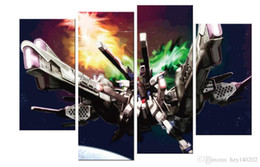 Wholesale Robot Painting - YIJIAHE Modern Print Canvas Painting Robot 4 Piece Canvas Art Wall Pictures for Living Room Large Wall Art R290 Framed