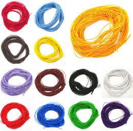 Wholesale Stretch Cord For Beading - 100m lot Elastic Rope Stretch Rubber Line Beading Cord For DIY Bracelet Necklace Jewelry Making 1mmx24m