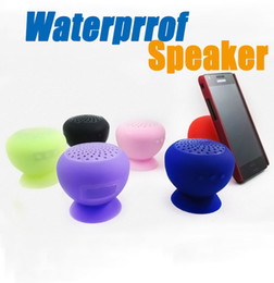 Wholesale Bluetooth Mushroom - Portable waterproof Bluetooth Speakers Wireless mini Cute little mushroom speakers Shower Handsfree Receive Call for Samsung iPhone