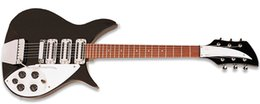 Wholesale Electric Guitar Lennon - Unique Ricken John Lennon 325C64 Jetglo 6 String Black Electric Guitar Triangle Mother Of Pearloid Fingerboard Inlay vintage-style pickups