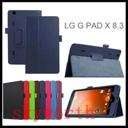 Wholesale F Tablet - Magnetic Folio Folding Stand Flip Leather Case for LG G Pad Gpad X 8.3 F 8.0 G Pad2 10.1 V940