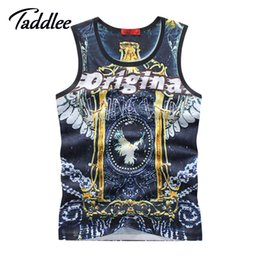 Wholesale Mens Sleeveless Tees - Wholesale-Mens 3D Print T Shirt Sleeveless Vest Tank Tops Singlets Stringer Tee Shirts Sweatshirt Men Top Tees Hip Hop Cotton Top Clothing