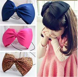 Wholesale Oversized Child - Oversized bow children kids baby girls hair accessories hair bands headwear bow flower Retail wholesale Boutique tiara
