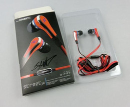 Wholesale Sms Headphone Sync - SMS Audio SYNC Wired STREET by 50 Cent Headphone Mini 50 cent with mic and mute button earphone For Phones iPad iPod Tablet