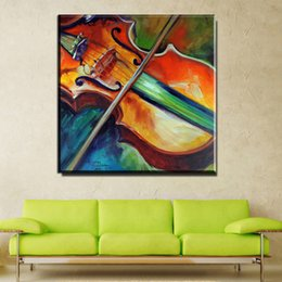 Wholesale Guitar Modern Art Painting - ZZ1013 modern decorative canvas art abstract guitar music canvas pictures oil art painting for livingroom bedroom decoration art