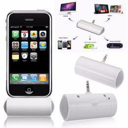 Altofalante do telefone do moblie on-line-3.5mm Mini Speaker Portátil Música Monaural Altifalantes de Áudio Estéreo Altifalantes Para Smartphone Moblie Telefone MP4 Branco