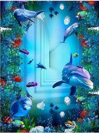 Wholesale Heat Toilet - Sunshine Underwater World Fish Turtle Toilet Bathroom 3D Floor Painting PVC wallpaper