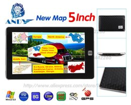 Wholesale Navigation Europe - Car GPS Navigation 5 inch Touchscreen Navigator 128MB 8GB SAT NAV MP3 FM Europe Map Russia France Belarus Ukraine etc