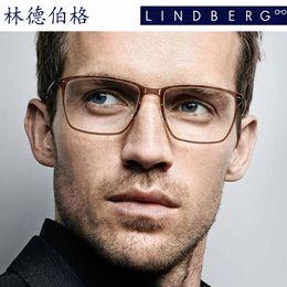 Wholesale Eyeglass Hinges - Brand glasses-Lindberg glasses frame of flat mirror men eyewear spectacle frame B titanium eyeglasses glue frame ultra light glasses 6505