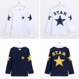 Wholesale Long Sleeve Boys Star Shirt - New 2017 spring and autumn children t shirts, hot sale boy clothes, star pattern long-sleeve T-shirt