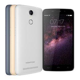 Wholesale Wholesale Mobile Store - Original HOMTOM HT17 Cell Phone 5.5 Inch HD Screen Smartphone 1GB RAM+8GB ROM Fingerprint Cell Phone MTK6737 Quad-Core 3000mAh Mobile Phone