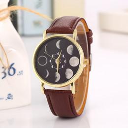 Wholesale Wholesale Dresses For Sale - Lunar Eclipse Watches Imitation Leather Fashion Dress Bracelet For Men And Women Quartz Wristwatches Hot Sale 5 5lb F R