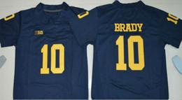 Wholesale Blue Bushes - Michigan Wolverines College Football #10 Devin Bush 9 Donovan Peoples-Jones 13 Eddie McDoom White Yellow Navy Blue Limited Jerseys S-3XL