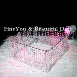 """Wholesale Acrylic Cake Stands - Express Free Shipping Wedding Table Centerpiece wedding acrylic crystal cake stand 16"""" diameter 8"""" tall 40cmx20cm"""