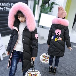 Wholesale Long Section Jacket - 2017 kids clothes Winter new children down jacket girls in the long children in the long section of children's clothing down jacket