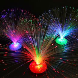 éclairage en plastique à fibres optiques Promotion Lumière optique en plastique de fibre partout dans le ciel Star LED Lumières rougeoyant dans la lampe de fleur instantanée foncée Coloré 1 8fd B
