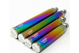 Wholesale Rainbow Ego - High Quality Vision Spinner Evod eGo C Twist Battery 650 900 1100mAh eGo-C twist 1300mAh Vision Spinners Rainbow Batteries VS ii 2 3 iii