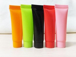 Wholesale Plastic Shampoo Tubes - 5ml 10g Colorful Refillable Soft Tube Empty Cosmetic tube for Shampoo Shower Gel Sample Squeeze Plastic Tube Container