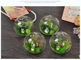 Wholesale Hanging Clear Glass Candle Holder - 8 10 15cm Clear Hanging Glass Vase Succulent Air Plant Display Terrarium Candle Tealight Holder Planters Pots for Wedding Home decor