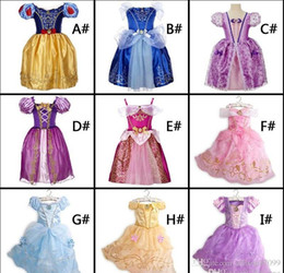 Wholesale Costumes For Christmas Performance - Costume dress Belle sofia Cinderella Sleeping beauty Girls dresses Cosplay performance dress for Christmas Halloween party In Stock DHL