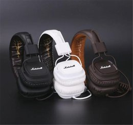 Wholesale Dj Hifi - Marshall Major Headphones With Mic Deep Bass DJ Hi-Fi Headphone HiFi Headset Professional DJ Monitor Headphone With Retail Package