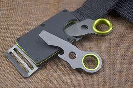 Wholesale Coating Car - Special Offer Multifunctional Car Belt Knife 440C Titnaium Coated Blade EDC Pocket Knives Outdoor Defense tools EDC