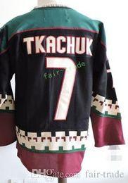 Wholesale Ice C - Phoenix Coyotes Throwback KEITH TKACHUK Hockey Jersey Vintage 7 KEITH TKACHUK Black White CCM Stitched Arizona Coyote Jerseys C Patch