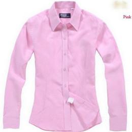 Wholesale black striped long sleeve shirt - 2016 new large size women's cotton linen women's long-sleeved work clothes OL shirt