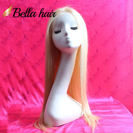 Wholesale Long Straight Silky Blonde Hair - Color #613 Blonde Straight Human Hair Glueless Full Lace Wigs 10~22inch Silky Straight Hair Wigs Julienchina Bellahair Full Hand Tied Wig