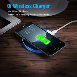 Wholesale Qi 5v - Qi Wireless Charger Universal 5V 2A Crystal Charging Pad Original For Samsung Galaxy S6 S7 Edge Note 5 Lumia 920 HTC LG3 LG4