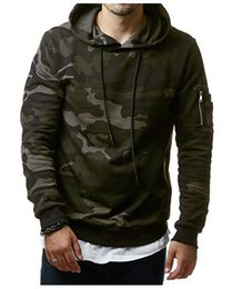 Wholesale Military Clothing Man - New Mens Hoodies and Sweatshirts Thin Model Zipper Hooded Sweatshirts Male Clothing Fashion Military Hoody For Men Printed Hoodies 3XL W05
