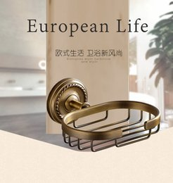 Wholesale Bronze Bathroom Furniture - Antique bronze finish brass Soap basket  soap dish soap holder  bathroom accessories,bathroom furniture & China & Soap basket
