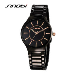 Wholesale Sinobi Male Watch - SINOBI New Slim Clock Men Casual Sport Quartz Watch Mens Watches Top Brand Luxury Quartz-watch Male Wristwatch Relogio Masculino