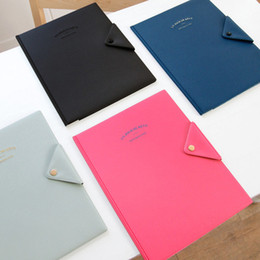 Wholesale Dress Folder - Korea's Simple And Practical A4 Folder Temperament Business Office Meeting 4 Color Available Women's Work Handbag Free Shipping