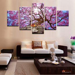 Wholesale Huge Wall Art Tree - Huge HD Canvas Print Home Decor Wall Art Painting Modern Abstract Tree Picture Prints On Canvas Wall Picture For Living Room