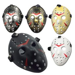Wholesale Jason Face - Archaistic Jason Mask Full Face Antique Killer Mask Jason VS Friday The 13th Prop Horror Hockey Halloween Cosplay Party Mask CCA7529 300pcs