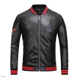 Wholesale Cheap Cardigans Jackets - 2017 new men's high quality leather jacket Jacket Mens zipper cardigan T PU hip hop super cheap leather large size m-3xl
