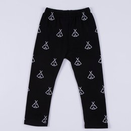 Wholesale Color Pencils Kids - INS baby pants new children teepee printed PP pants boys girls leisure pants toddlers kids cotton leggings A8710