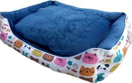 Wholesale Beds For Cats - Cute Cartoon Warm Pet House Canvas Dog Cat Kennel Mickey Soft Washable Pet Dog Cat Nest For Winter M Size Min Order 1PCS