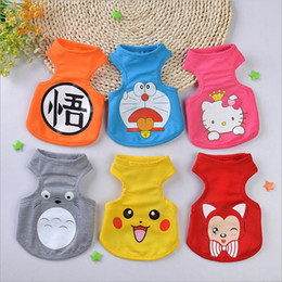Wholesale Cheap Clothes For Cats - Spring and Summer Breathable Mesh Dog Clothes Puppy Vest for Small Dogs Cats Cute Cartoon Printed Pet Apparel Wholesale Cheap