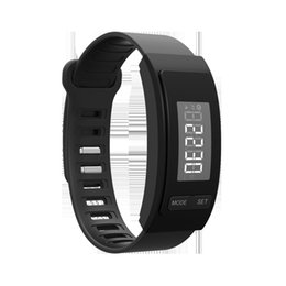 Wholesale Digital Watch Blue Lcd - Digital LCD Pedometer LED Sport Watch Run Step Walking Distance Calorie Counter Wrist Watch Bracelet Black Blue White Gold Red For Adults