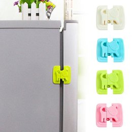 Wholesale Cabinet Safety Lock For Baby - Baby Safety Cartoon Shape Fridge Lock Hand Proof Cabinet Lock For Children lock