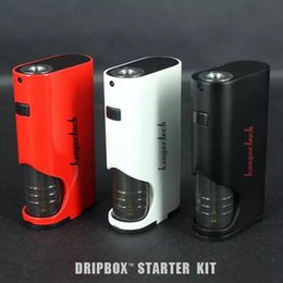 Wholesale Red Intake - 100% Original Kanger Dripbox Start Kit With Subdrip 7ML Tank & 60W Dripmod Special Battery Cover Design 13mm Intake vs Joytech Cuboid